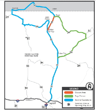 Highway Alternate Route - Us 89 utah map