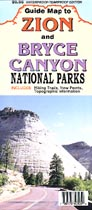 Zion and Bryce Canyon Parks Map - Product Image