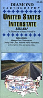 United States Interstate Area Map - Product Image